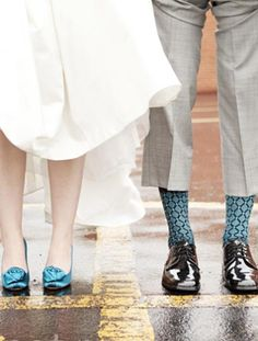 "A fun way to add ""something blue"" on your big day!"