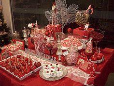 Amazing Christmas Candy Buffet