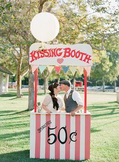 kissing booth, photo by Valentina Glidden Photography http://ruffledblog.com/brookside-equestrian-wedding #weddingideas