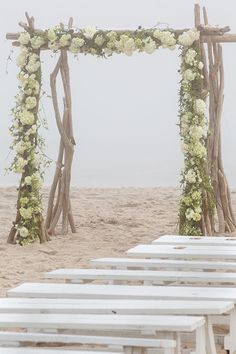 Brides: A Summer Wedding in the Sand in Quogue, New York