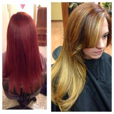 Beautiful color correction done at Ambiance Day Spa and Salon.