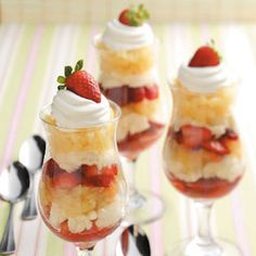 Berry Pineapple Parfaits Recipe from Taste of Home -- shared by Ruth Andrewson of Leavenworth, Washington
