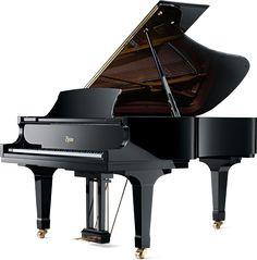 Steinway baby grand piano.