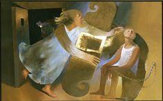 The Freeing of the Apostle Peter 1983 Arcabas Fresco Musée d'art sacré contemporain Saint-Hugues, Chartreuse, France