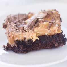 Somoa Brownies #desserts #dessertrecipes #yummy #delicious #food #sweet