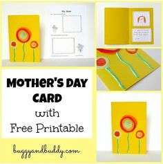 Mother's Day Card for Kids to Make (with Free Printable)~ Buggy and Buddy