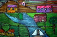 abstract chalk/glue landscapes- gr.9