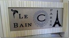 Paris Sign using Silhouette Cameo