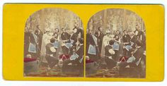 Stereo View Card of the 3rd Degree in Freemasonry. No viewer? Cross your eyes and focus on the middle image that appears. A little practice and you can view them.