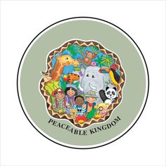 Peaceable Kingdom 6x6in Giclee Print by teresawalsh331 on Etsy, $50.00