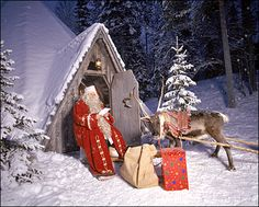 Father Christmas in Lapland