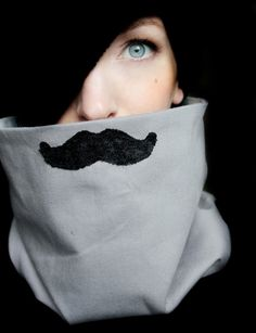 Mustache Neck Warmer $39.00 at http://www.etsy.com/listing/80327058/mustache-clothing-mustache-scarf-cowl
