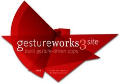 The Splash Screen for GestureWorks multitouch framework.