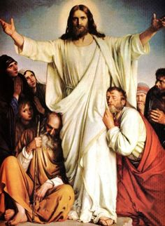 I absolutely LOVE this picture of the Risen Christ!