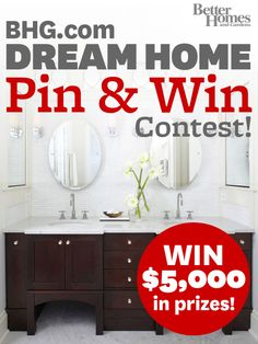 BHG's Pin & Win contest begins today! Create a 'My Better Homes and Gardens Dream Home' board and pin at least 10 images from BHG.com for the chance to win big. Your pins must have a description and your board should only have BHG.com images on it. Enter your board URL here: http://www.facebook.com/mybhg?sk=app_154155761264099