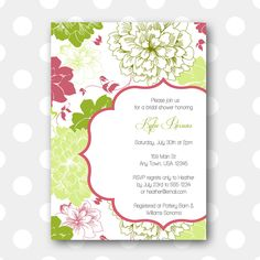 Printable Bridal Shower Invitation - Spring Bouquet. $10.00, via Etsy.