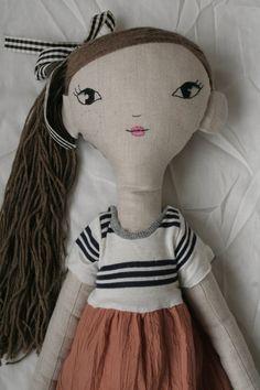 Handmade linen girl doll 76cm tall by LolawithLoveDolls on Etsy