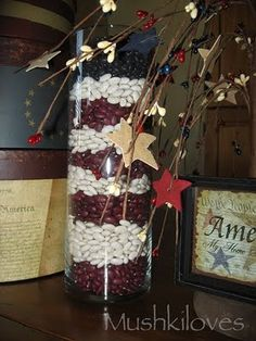 July 4th ideas...beans in a cylinder