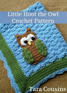 Little+Hoot+the+Owl+Crochet+Baby+Blanket+Pattern