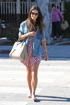 Chambray button down over dress