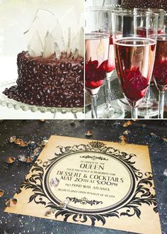 Elegant Evil snow white queen party. I really want to have one of these. Great alternative for Halloween get together with a few friends.