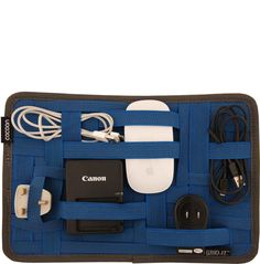 GRID-IT MED BLUE- organizer for electronic stuff when traveling