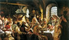 Boyar Wedding a painting by Konstantin Makovsky. A famous painting of 17th century Russia.