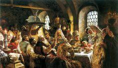 свадебный пир, russian, weddings, feast, art