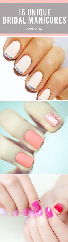 10 Unique Bridal nail art #makeup #beauty #eyeliner #feminine #beautiful #manicure #nails #nailpolish #tutorial