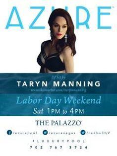 Taryn Manning DJ set at Azure Pool @ The Palazzo Las Vegas on Sat Aug 30, 2014
