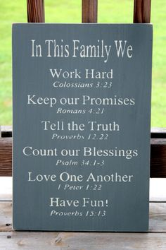 Christian Rules Sign Family Rules Sign by PreciousMiracles on Etsy Rules Signs, Ideas, Values Signs, Wood Signs, Bible Verses, Families Signs, Signs Families, Family Signs, Family Rules Sign