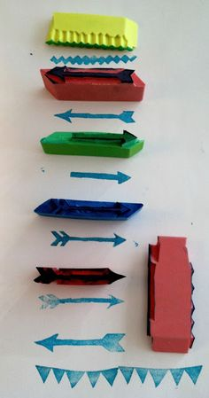 DIY: Homemade rubber stamp tutorial at The Blog Guidebook
