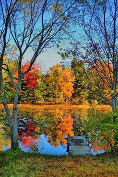 season, autumn lake, color, fall, lakes, natur, beauti, place, reflect