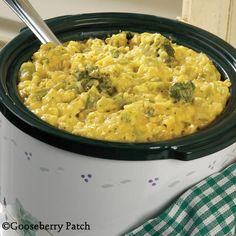 Gooseberry Patch Recipes: Famous Broccoli Casserole - easy to prepare in your slow cooker and feeds a crowd!