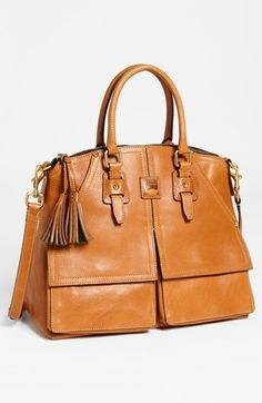 Dooney & Bourke 'Clayton' Satchel, Large available at #Nordstrom My Fall 2014 bag - I bought it in black....love it. It's my version of a Clare bag in my style. LOVE IT.