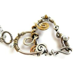 Valentine Heart Jewelry Oxidized Sterling Silver by JanetDavies, $80.00