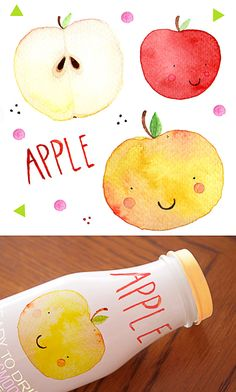 Adorable apple juice packaging by Rebecca Cubillo.