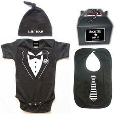 Punk Rock Baby Tux!! and tie bib!!