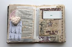 My girls are learning the joys of sewn journals like this: besottment by paper relics: Sewn Journaling Pages Part V