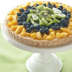 Mango, Blueberry and Kiwi Tart