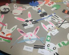 classroom, bulletin board, bunny crafts, adject bunni, teacher, spring