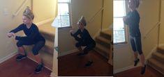 15 Min At Home Staircase Workout | Amanda Adams