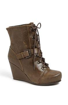 distress leather, otbt rupert, leather booti