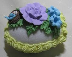 adorable bird nest Panoramic Sugar egg Fairy with chick with blue by iloveprisims, $22.00