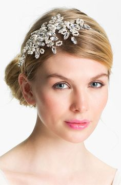 Halo & Co. Crystal Branches Headband | #Nordstromweddings