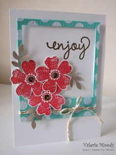 Stampin' Up! On Film Framelits - Flower Shop - Gold Sequin Trim - Stamping With Val - Valerie Moody; Independent Stampin' Up! Demonstrator. ...