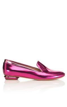 Nicholas Kirkwood's metallic slipper
