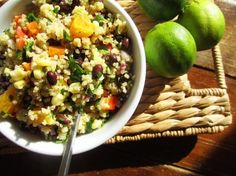 One of my favorite recipes: Black Bean, Orange and Corn Quinoa Salad.