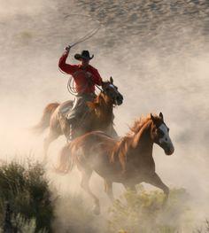 Cowboys make me think of beautiful pastures....!