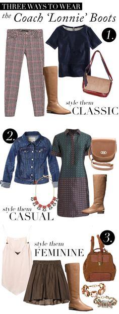 Three Ways To Wear Coach 'Lonnie' Boots